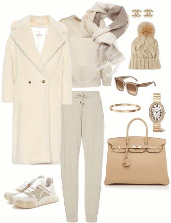 monochromatic winter casual
