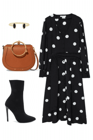 Polka dots Dress and accessories