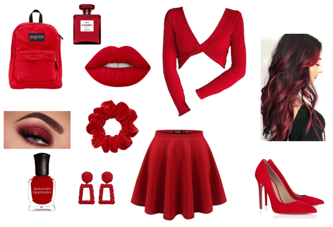 Monday Red Outfit