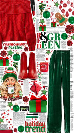 red and green 💚🎄❤️
