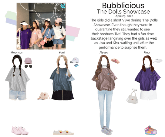 Bubblicious (신기한) Backstage at The Dolls Showcase