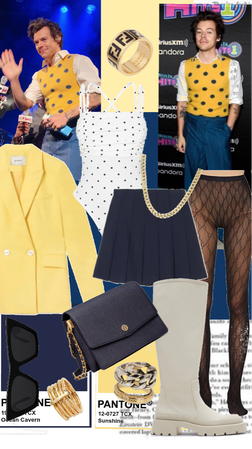 Harry Styles inspired-yellow and navy