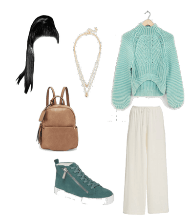 Lara Jean aqua outfit