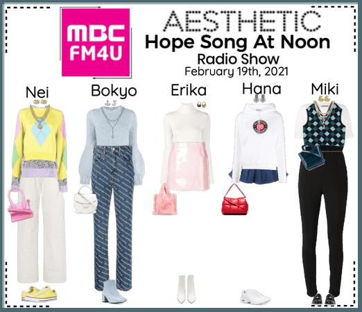 AESTHETIC (미적) [RADIO] Hope Song At Noon