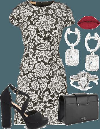 Lace-pattern Dress