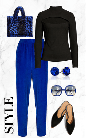 Blue and Black Keeping it Simple