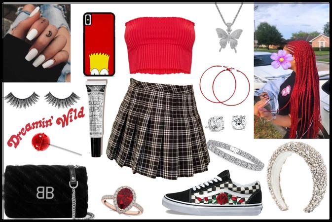 baddie outfit #school