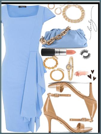 Pretty Dress Style ft Blue