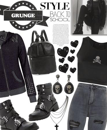 grunge look back 2 school