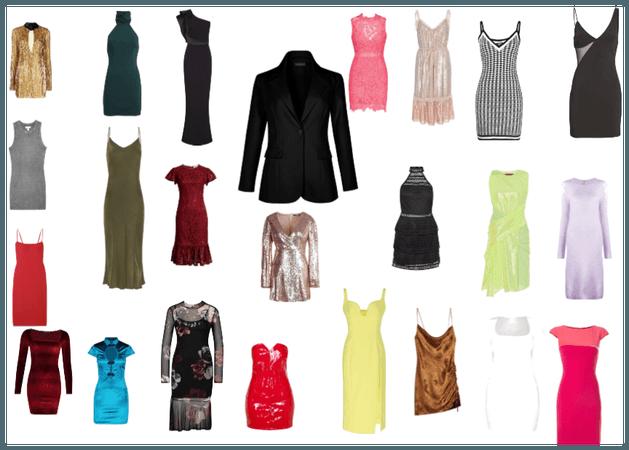 Czarny żakiet + sukienki
