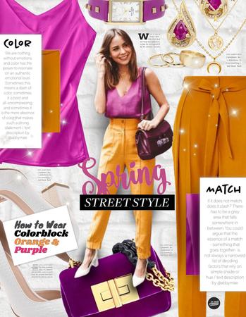 Street Style: Colorblock Orange and Purple
