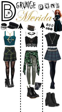 Grunge Punk Merida (disneybound)