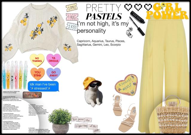 yellow pastelss