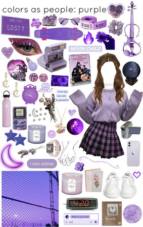 colors as people: purple