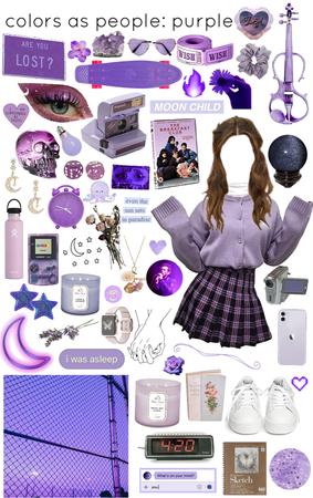 colors as people: purple