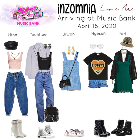 INZOMNIA 'Love Me' Debut Arriving to Music Bank Outfits 04.20