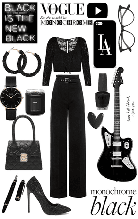 black monochrome 🖤
