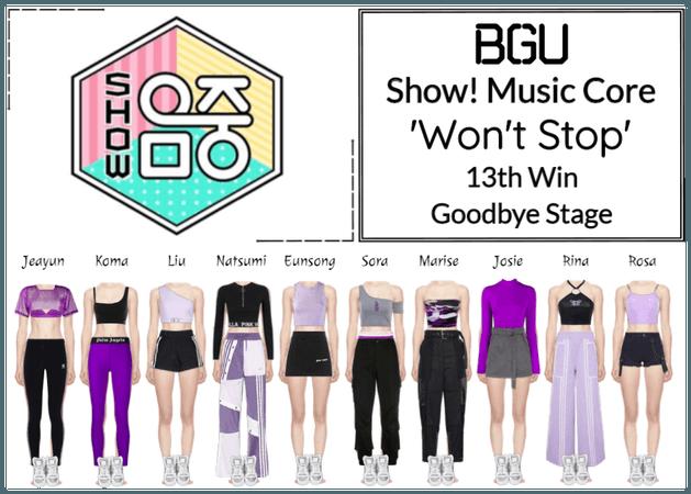 BGU Show! Music Core 'Won't Stop' Goodbye Stage