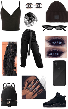 Monochrome: All black Outfit
