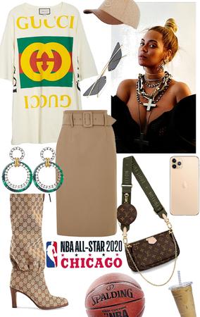 Beyonce on NBA All star 2020