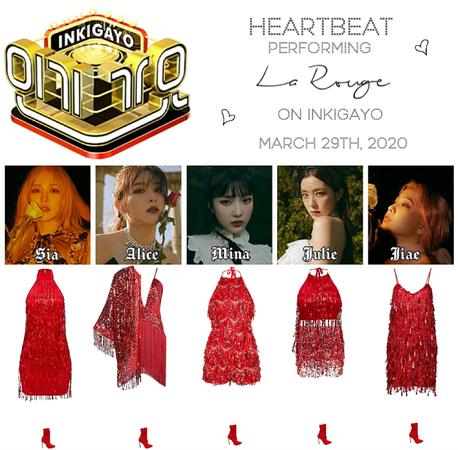 [HEARTBEAT] INKIGAYO 200329 | 'LA ROUGE'