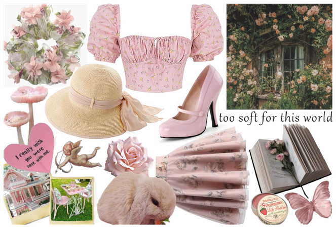cottagecore - pink roses