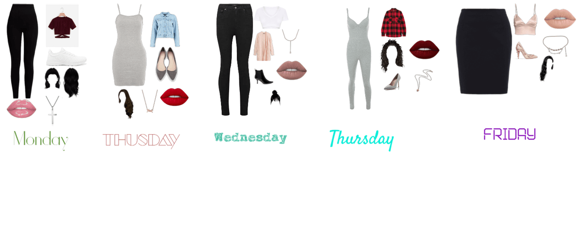 an outfit for everyday of the week