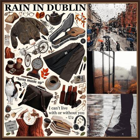 RAIN IN DUBLIN IRELAND