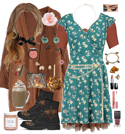 Coco Rose Caramel Turquoise Brown