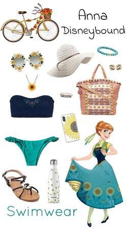 Anna Swimwear Disneybound