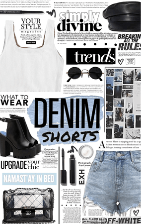 denim shorts. 💙