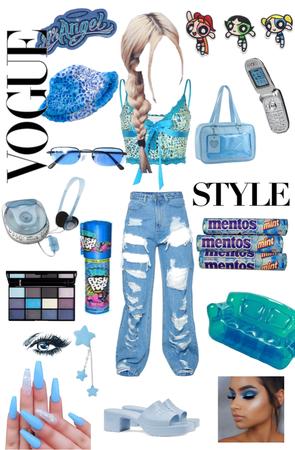 Y2K blue