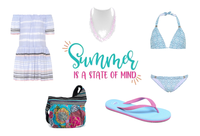 Summer Wears with Rose Quartz Necklace