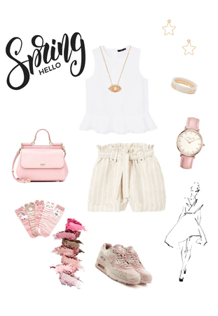 soft and pastel spring outfit
