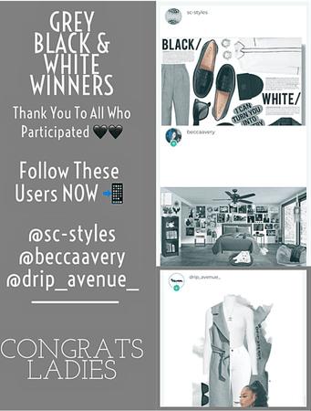 GREY BLACK WHITE WINNERS