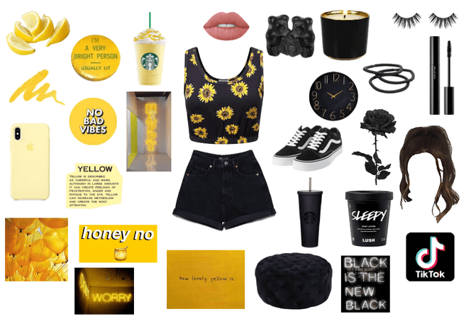 A Black and Yellow Summer Look