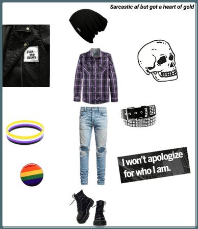 Non binary and gay pride 🏳️🌈