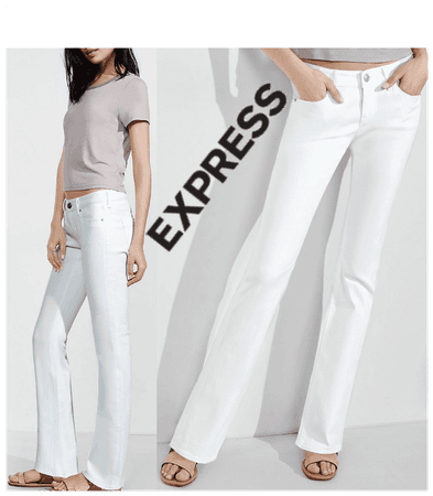 Express White denim