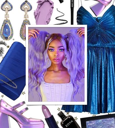 FALL 2020: Metallic Cobalt + Lavender Glam