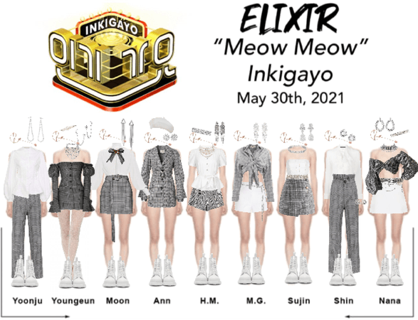 """ELIXIR (엘릭서) """"Meow Meow"""" Inkigayo"""