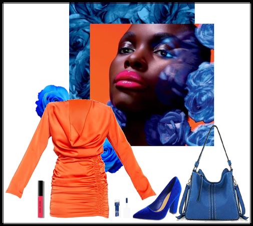 Bold Orange and Blue