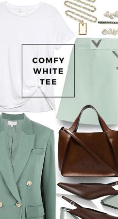 Comfy white tee