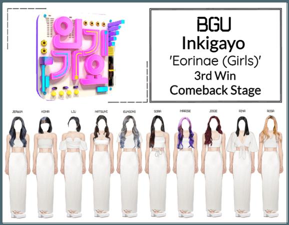 BGU Inkigayo 'Eorinae (Girls)' Comeback Stage