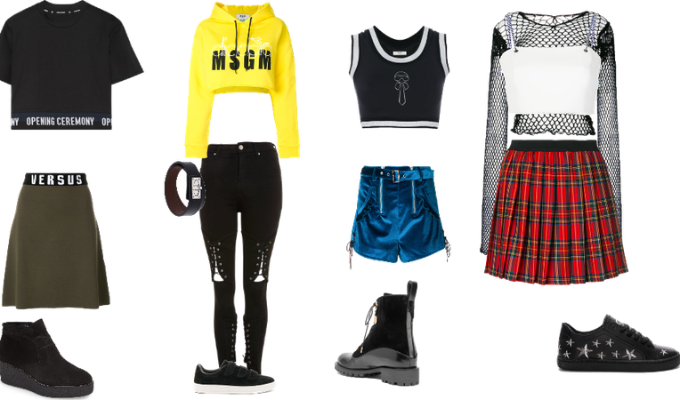 Fantasy K-pop group outfit