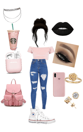 the Starbucks pink drink outfit