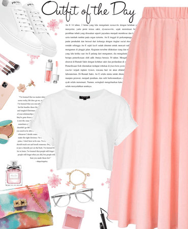 light pink outfit