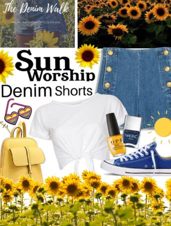 Sunflowers and Denim