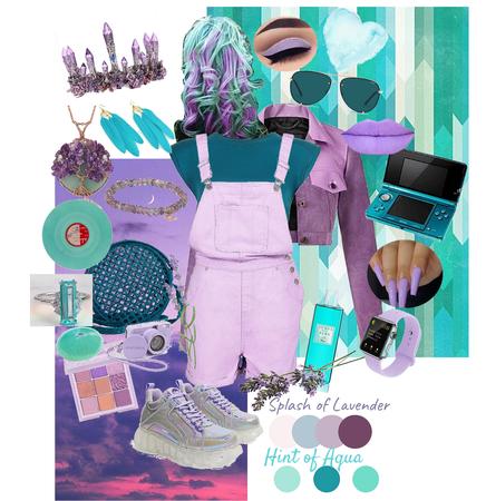 lavender & aqua