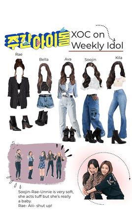 XOC on weekly idol | fake girl group