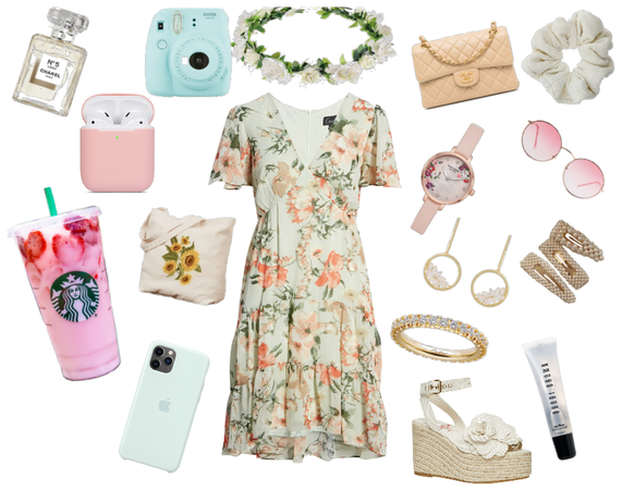 Summer Pastel Pink and Mint Sundress Board